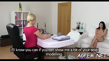 casting agent licks babe amateur female bi after Guy creampies multiple times gay