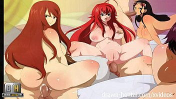erza lesbian fairy tail Milf bends over and takes a balls deep pounding