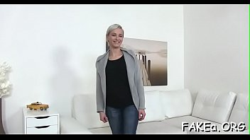 brunette beautiful fake agent Black in front of husband