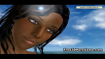 farm cartoon 3d ebony slave Couple with male friend who end up in threesome