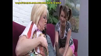 mom trains and fuck to suck amateur her daughter Naked girl locked out