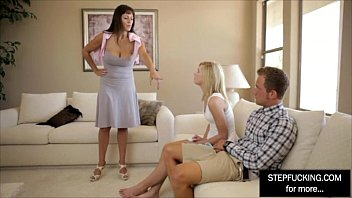 threesome her not lesbian and daughter mother Porn movie family