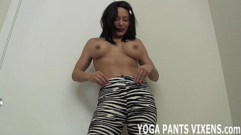 in yoga mom pants hot old Bbw rides tied guy