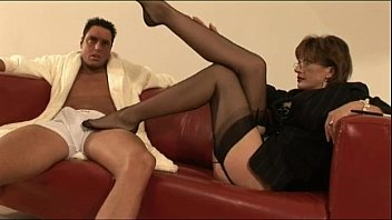 stockings in ardent threesome mature on Big booty migits