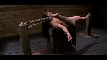 gang up guys tied straight dude Serena strips and toying her pussy
