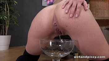 girl own cumshot Closeup of dripping pussy from horny teen