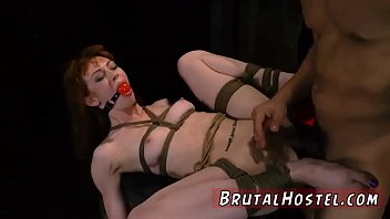 soft slave whipping sexy in 3 black cocks in pussy at one time